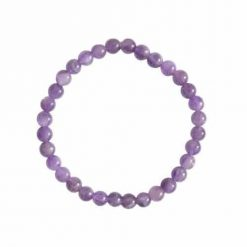 bracelet en améthyste véritable en pierres 6 mm