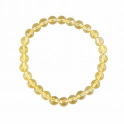 bracelet en citrine naturelle avec des pierres de 6 mm