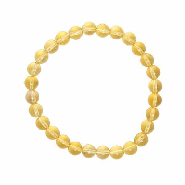 bracelet en citrine véritable avec des pierres de 6 mm