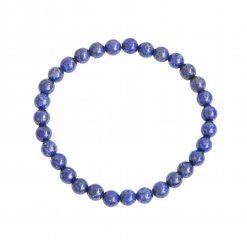 bracelet en lapis-lazuli naturelle avec des perles de 6 mm