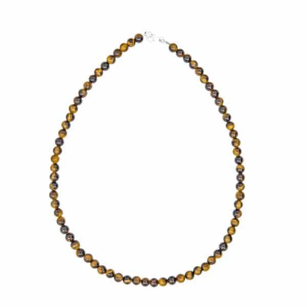 collier en oeil de tigre véritable pierres 6 mm