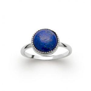 bague en lapis lazuli naturelle et argent 925