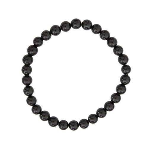 bracelet en tourmaline noire naturelle boules 6 mm