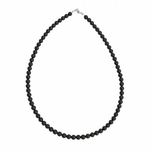 collier en tourmaline noire naturelle boules 6 mm