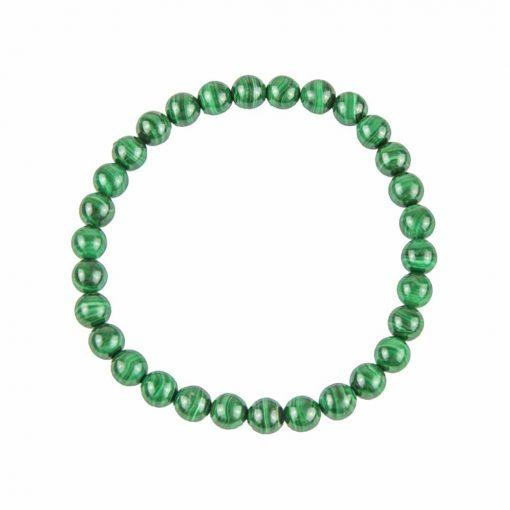 bracelet en malachite naturelle boules 6 mm
