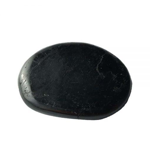 galet de lithothérapie en tourmaline noire authentique