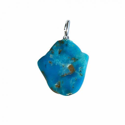 pendentif turquoise pierre brute 2